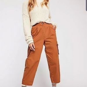 Free People Cropped Baggy Cargo Pants.